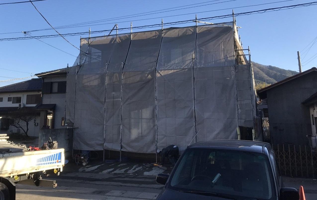 足場仮設 外壁塗装