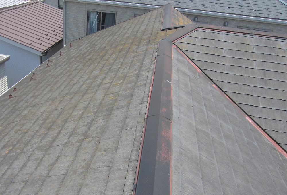 屋根棟のサビ