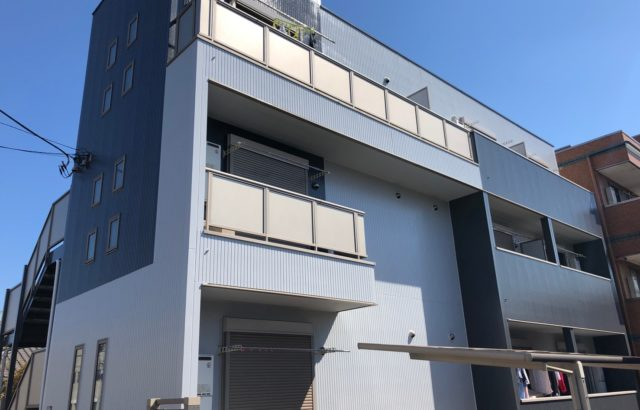 東京都多摩市 アパート 外壁塗装 ナノコンポジットW