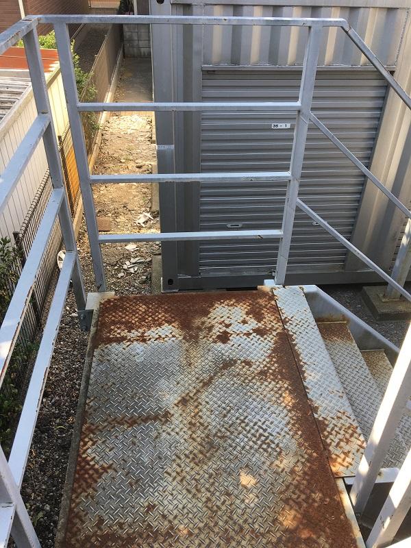 東京都国立市 外壁塗装 付帯部塗装 鉄骨階段 事前調査
