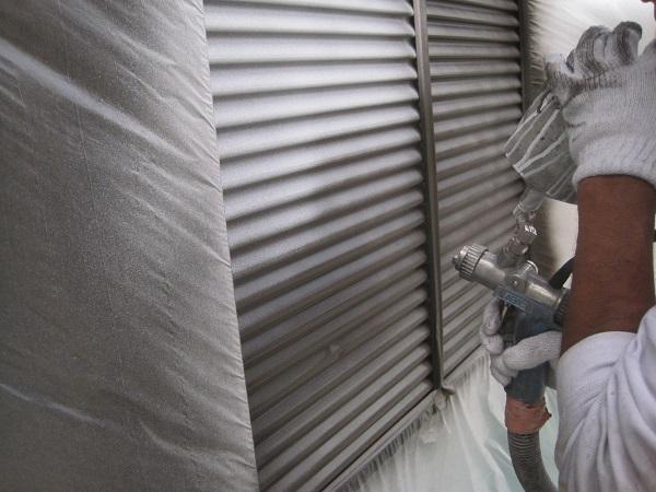 東京都立川市 外壁塗装 付帯部塗装 雨戸 吹き付け工法 水谷ペイント ナノコンポジット