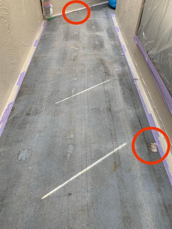 東京都国立市 屋根カバー工法(重ね葺き工事) 防水工事 事前調査 バルコニー (5)