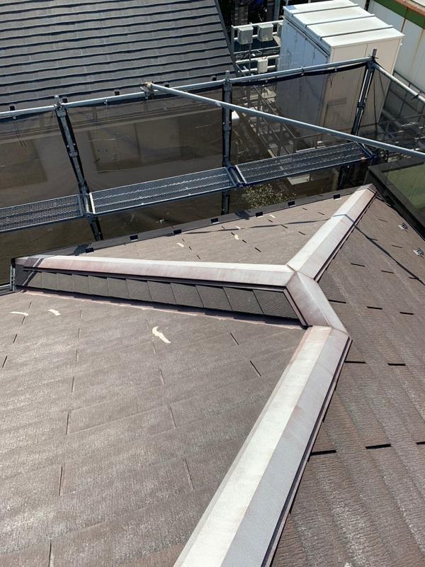 東京都国立市 屋根カバー工法(重ね葺き工事) 防水工事 事前調査 (2)
