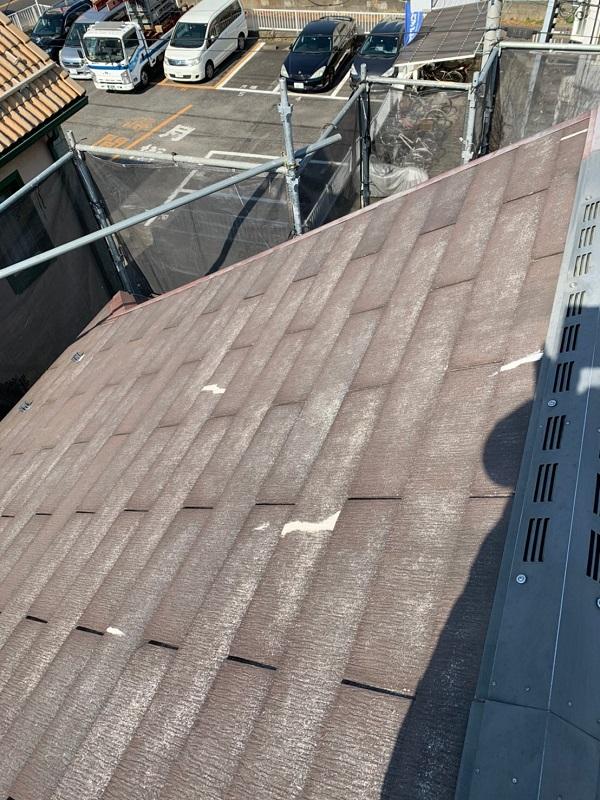 東京都国立市 屋根カバー工法(重ね葺き工事) 防水工事 事前調査 (4)