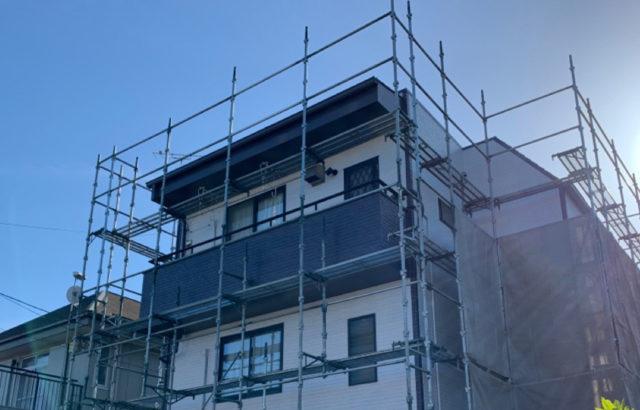 東京都多摩市 外壁塗装 笠木板金 雨樋工事 防水工事 シーリング