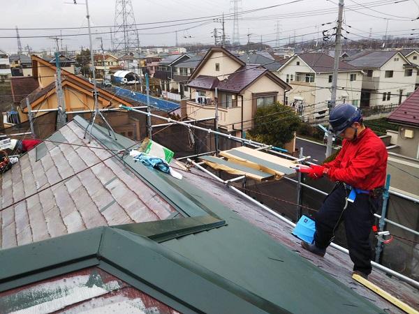 東京都国立市 屋根カバー工法(重ね葺き工事) 防水工事 完工 定期訪問サポートについて (9)
