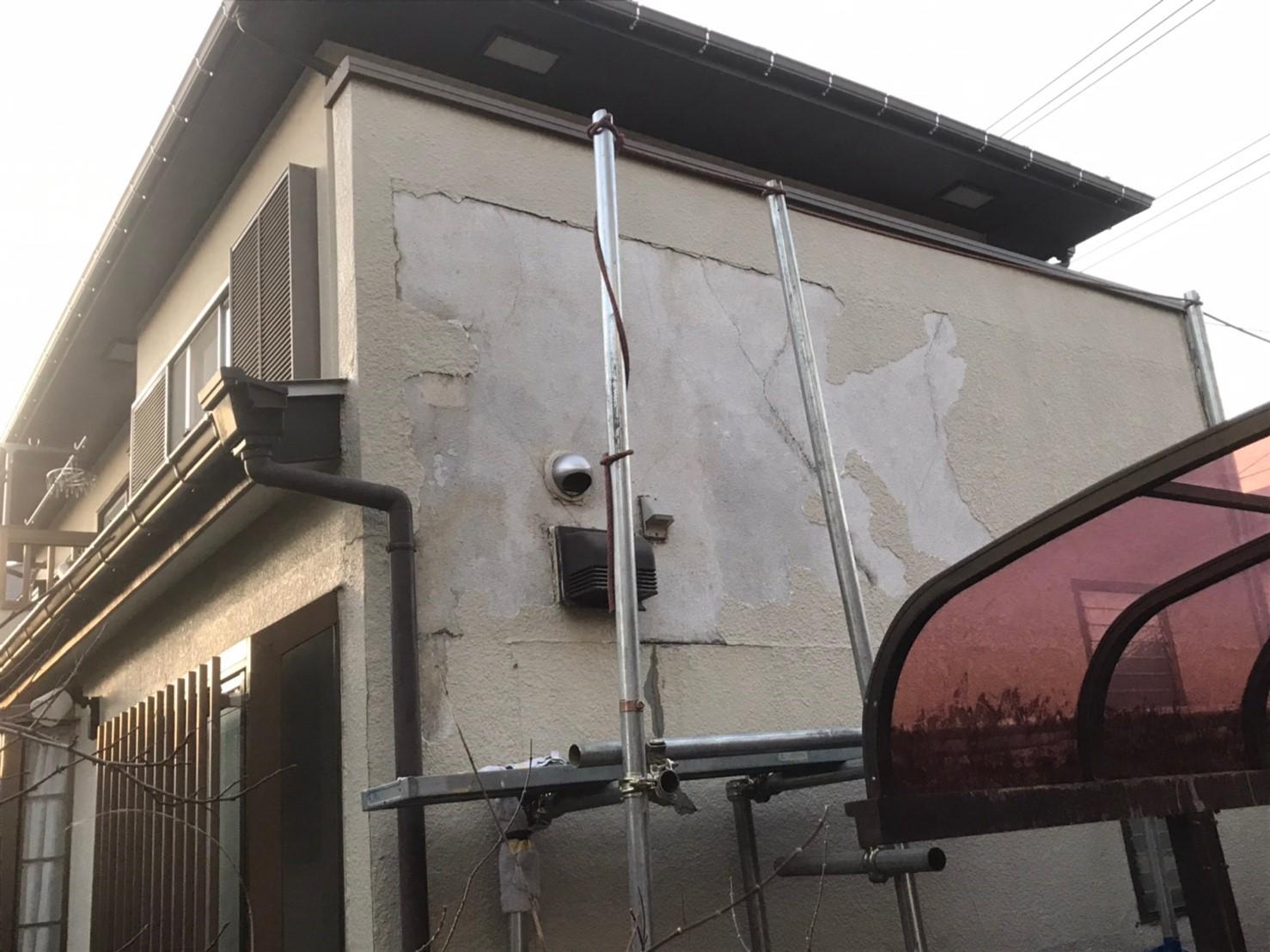 東京都国分寺市 外壁補修 モルタル 事前調査 (1)
