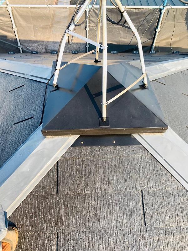 東京都立川市 外壁塗装 屋根塗装 防水工事 日本ペイント 遮熱塗料 サーモアイSi 雪止め (2)