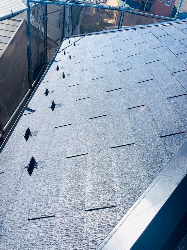 東京都立川市 外壁塗装 屋根塗装 防水工事 日本ペイント 遮熱塗料 サーモアイSi 雪止め (1)