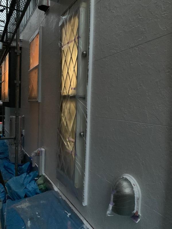 東京都立川市 外壁塗装 屋根塗装 中塗り・上塗り 光触媒塗料 (2)