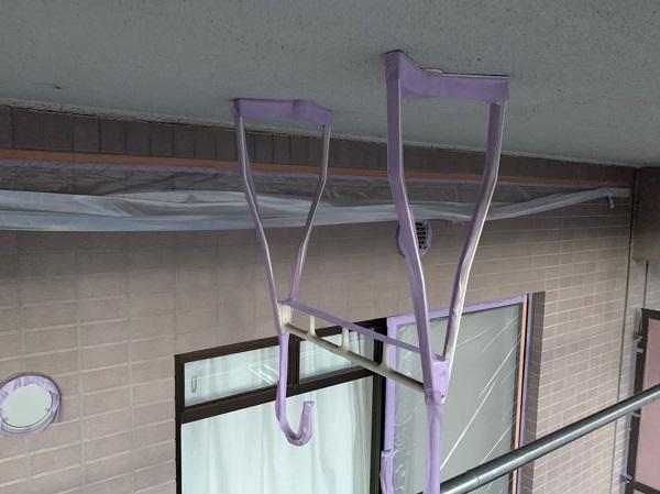 東京都国立市 外壁塗装 付帯部塗装 防水工事 下地処理 高圧洗浄~養生 (2)