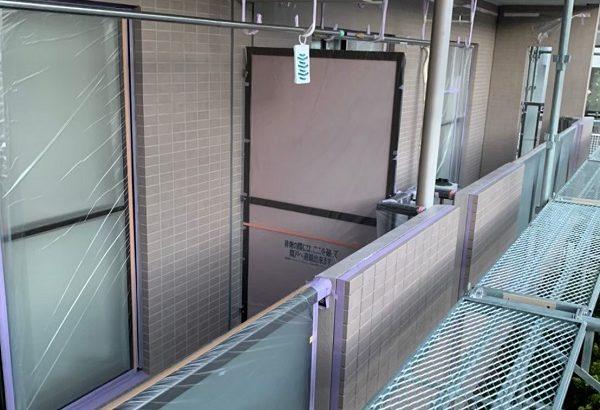 東京都国立市 外壁塗装 付帯部塗装 防水工事 下地処理 高圧洗浄~養生 (1)