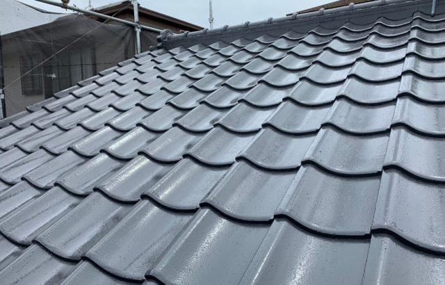 東京都昭島市 屋根(セメント瓦)塗装 付帯部塗装 シーリング工事
